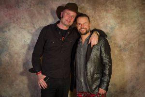 Lee Baxter (rechts) mit Songwriter-Freund Will hall